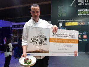 Juan Ramón Sau, primer vencedor del Concurso Cocina Carne Sostenible y Natural de Lechal, Cordero y Cabrito